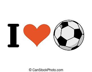 hart, liefde, voetbal, sporten ventilators, ball., logo, soccer.