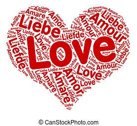 hart, liefde, wolk