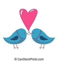hart, liefdevogels
