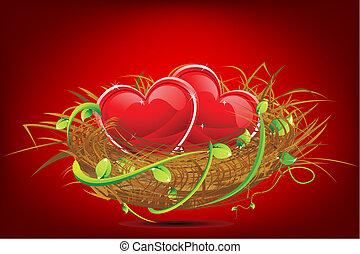 hart, nest