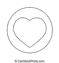 hart, ontwerp, illustratie, pictogram
