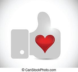 hart, ontwerp, zoals, illustratie