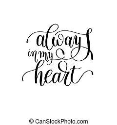 hart, over, liefde, val, lettering, always, noteren, mijn, met de hand geschreven