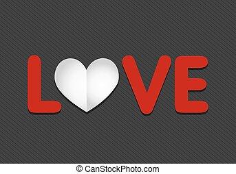 hart, papier, liefde