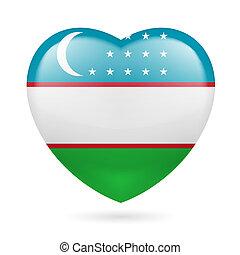 hart, pictogram, van, oezbekistan