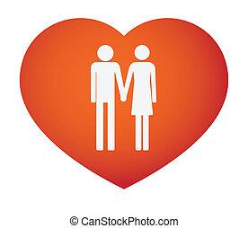hart, pictograms, mannelijke , vrouwlijk