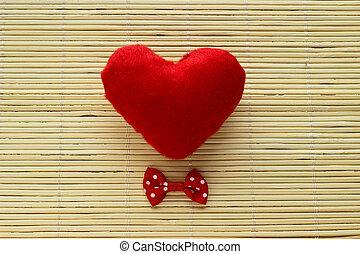hart, rood, boog-band