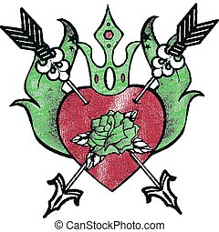 hart, roos, tatoeëren
