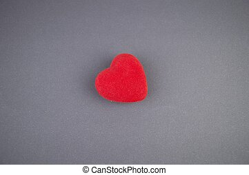 hart, ruimte, daar, kosteloos, achtergrond, grijs, vullen