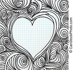 hart, schets, sierlijk