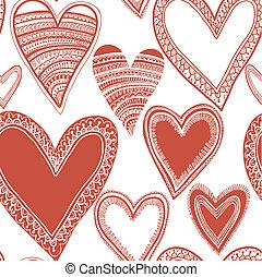 hart, seamless, rood, model