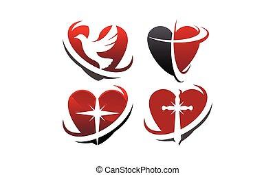 hart, set, liefde, mal