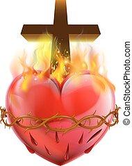 hart, symbool, christen, heilig