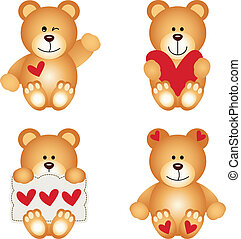 hart, teddy beer, schattig