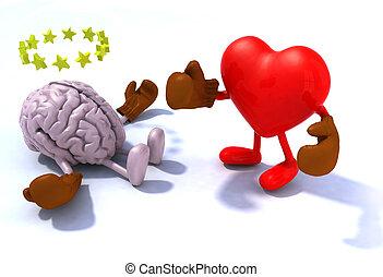 hart, vecht, hersenen