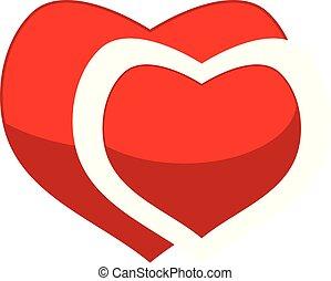 hart, vector, ontwerp, mal, logo, lint