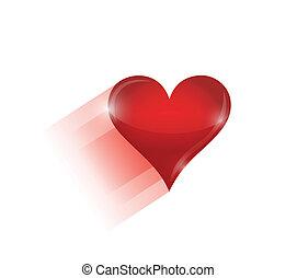 hart, verhuizing, ontwerp, illustratie