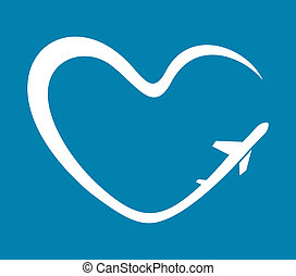hart, vliegtuig, symbool