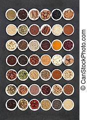 hart, voedingsmiddelen, sampler, gezonde