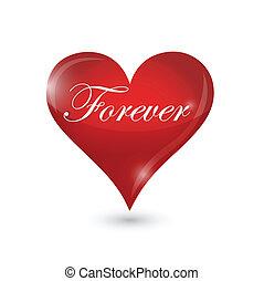 hart, voor altijd, ontwerp, illustratie