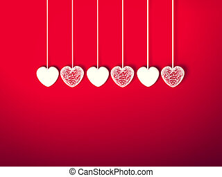hart, voor, valentines dag, achtergrond