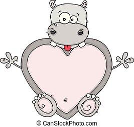 hart, weinig; niet zo(veel), gekke , gevormd, nijlpaard