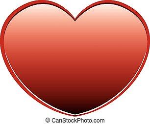 hart, witte , vector, rode achtergrond
