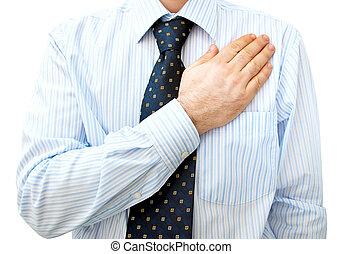 hart, zakenman, advocaat, hand