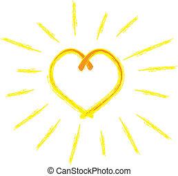 hart, zonneschijn