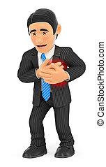 hartaanval, 3d, zakenman