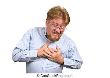 hartaanval, hebben, man