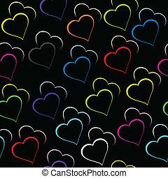 hartjes, black , achtergrond kleurde
