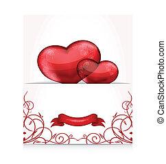 hartjes, dag, brief, valentine
