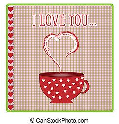 hartjes, liefde, begroetende kaart