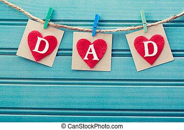hartjes, vaders, vilt, boodschap, dag
