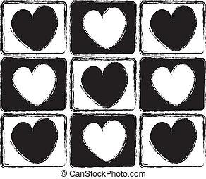 hartjes, witte , black