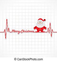 hartslag, maken, kerstmis, vrolijk, tekst
