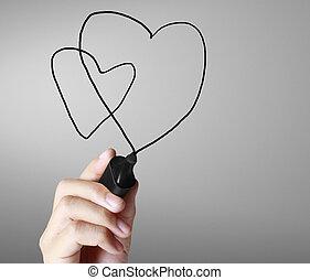hartslag, tabel, tekening