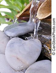 hartvormig, steen, fontijn
