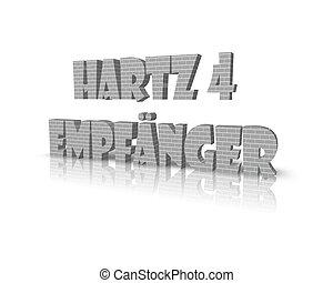 hartz 4 empf?nger 3d word