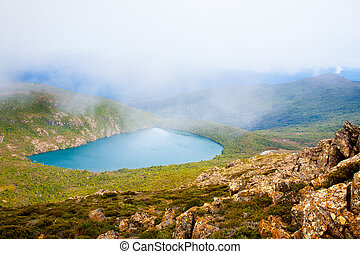 Hartz Lake from Hartz Peak, Tasmania, Australia