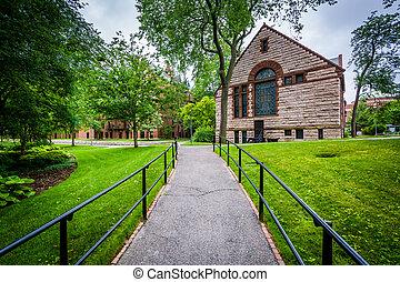 harvard-epworth, 團結, methodist, 教堂, 在, 哈佛, 大學, 在, 劍橋, massachusetts.