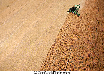 Harvest Background Abstract - Background texture aerial of a...