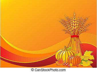 Harvest background - Seasonal background with plump...