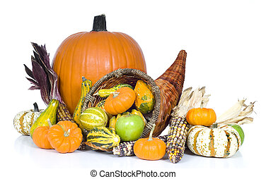 Harvest Cornucopia - A harvest, autumn or thankgiving...