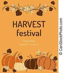 Harvest festival invitation banner