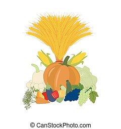 Harvest illustration vector
