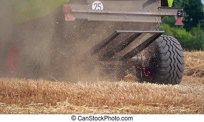 Harvest in Wheat Field