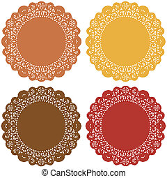 Harvest Lace Doily Place Mats