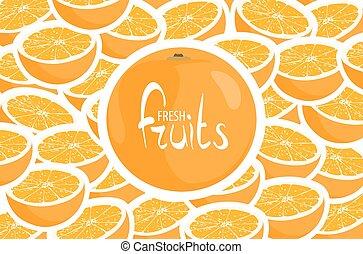 Harvest ripe oranges